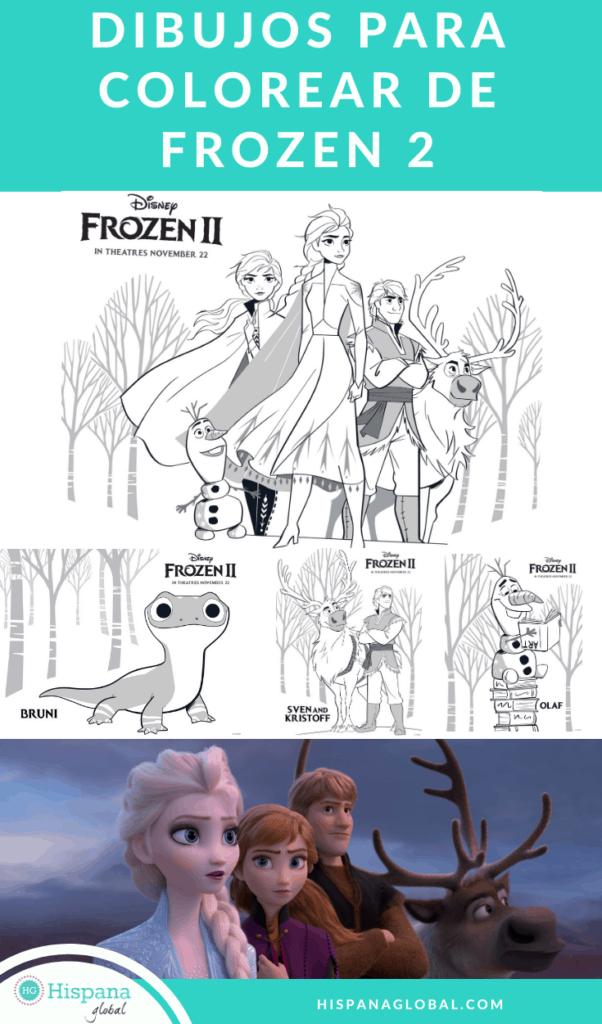 Encuentra figuras y dibujos para colorear gratis de Frozen 2 que puedes imprimir en casa para deleitar a todos los fanáticos de Anna, Elsa y Olaf.
