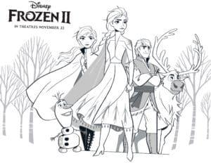 Dibujos Para Colorear Y Pintar Gratis De Frozen 2 De Disney