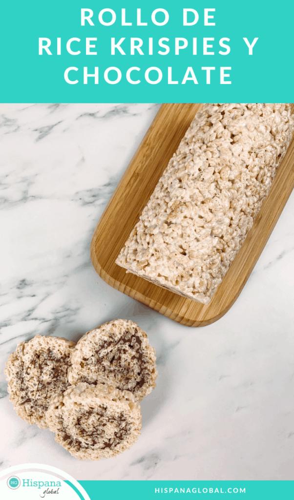 Si buscas un postre delicioso libre de gluten, te encantara esta receta. ¡Prepara un arrollado o rollo de Rice Krispies con chocolate en pocos minutos!