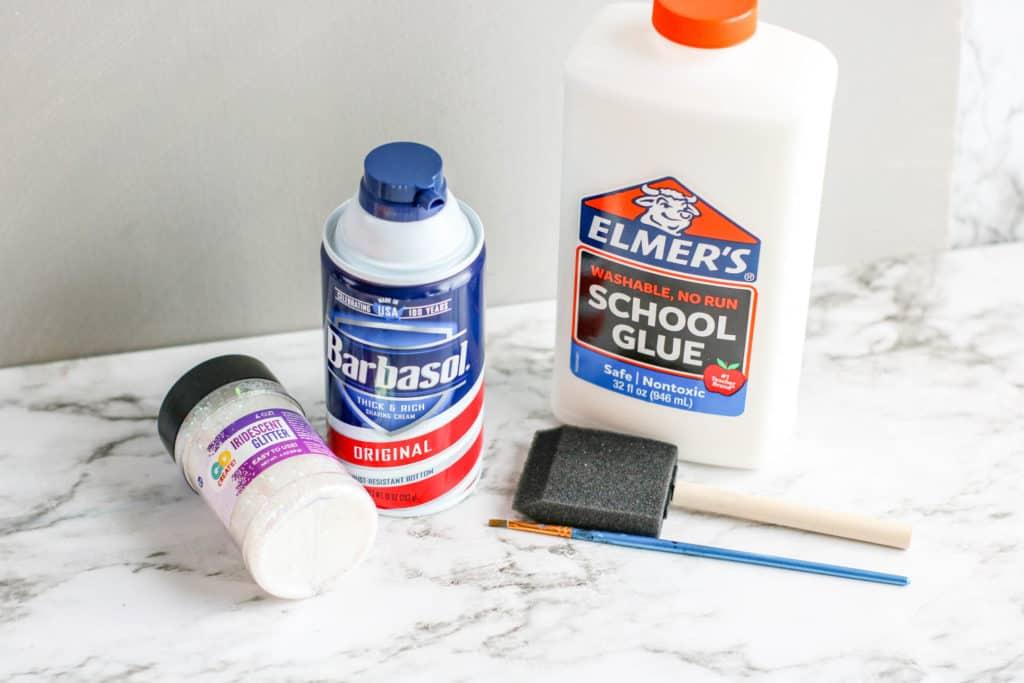 Ingredientes para hacer la pintura