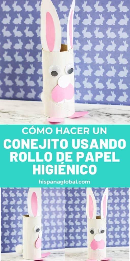 Aprende cómo hacer en pocos minutos un conejo de Pascua reciclando un rollo de papel higiénico