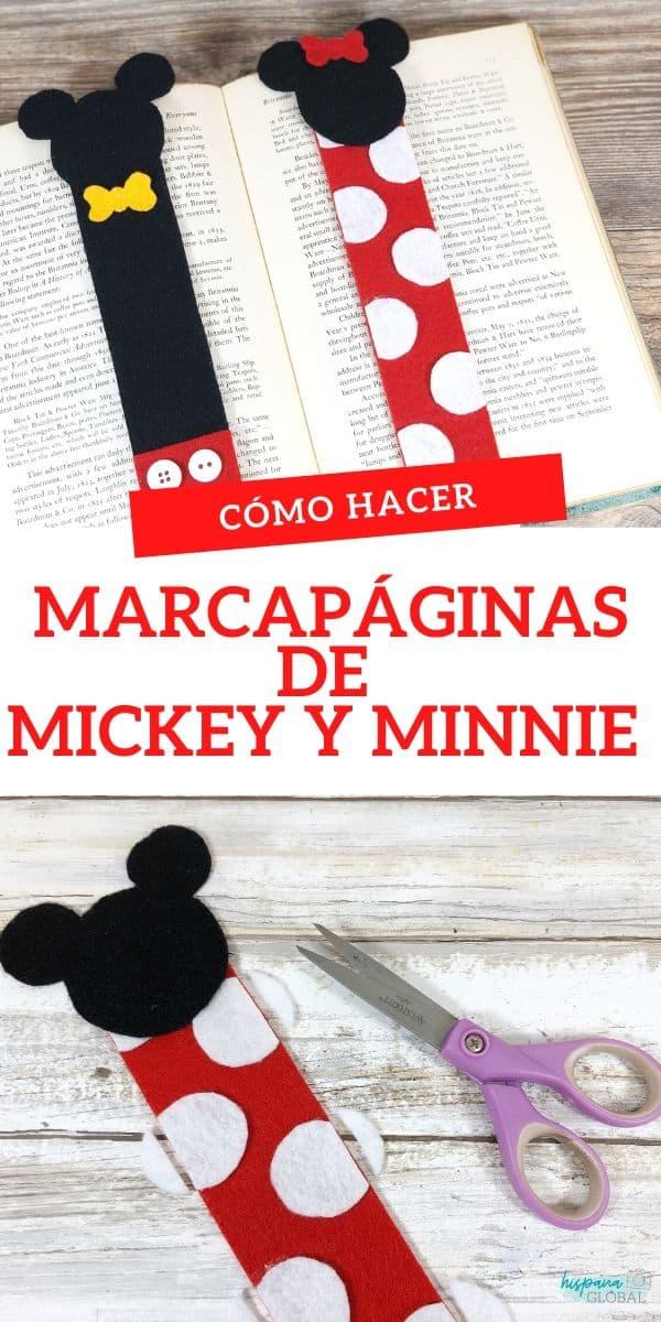 Haz estos bellos marcapáginas de Mickey y Minnie Mouse en menos de 30 minutos para deleitar a los amantes de los libros y de Disney. Tenemos las instrucciones de estos marcadores de libros paso a paso.