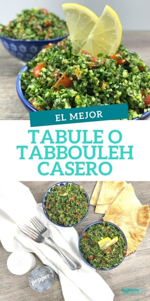 La mejor receta de tabulé o tabbouleh para preparar en casa esta deliciosa ensalada árabe.
