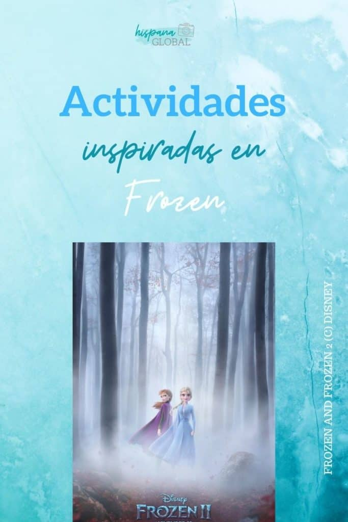 Recibe gratis actividades infantiles, manualidades y recetas inspiradas en la pelicula Frozen para divertir a los niños en casa.