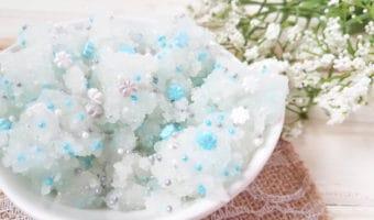 Exfoliante de azúcar inspirado en Frozen