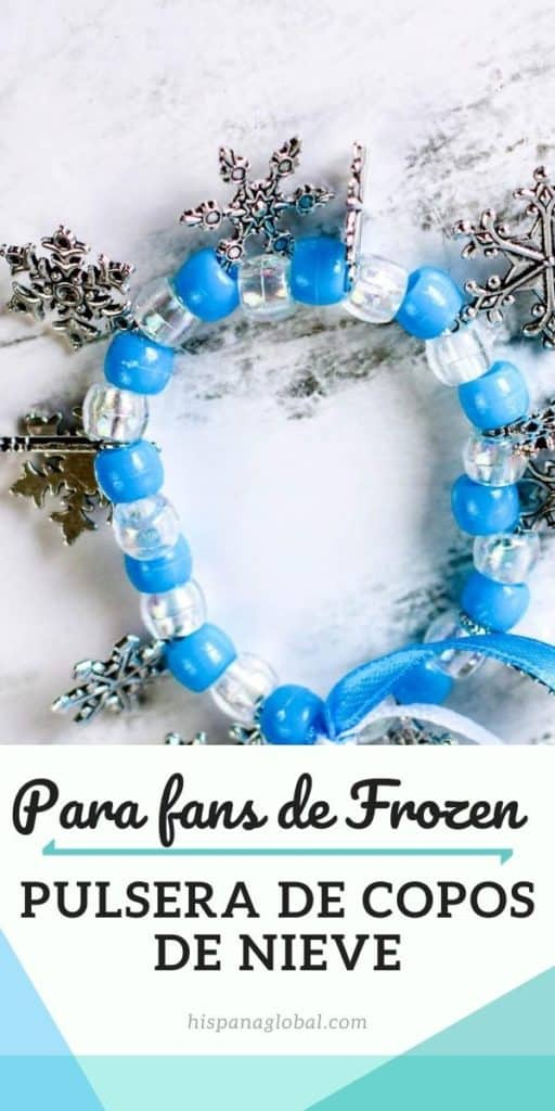 Cómo hacer una bella pulsera de cuentas y copos de nieve inspirada en la película Frozen