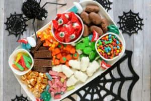 Tabla de dulces para Halloween