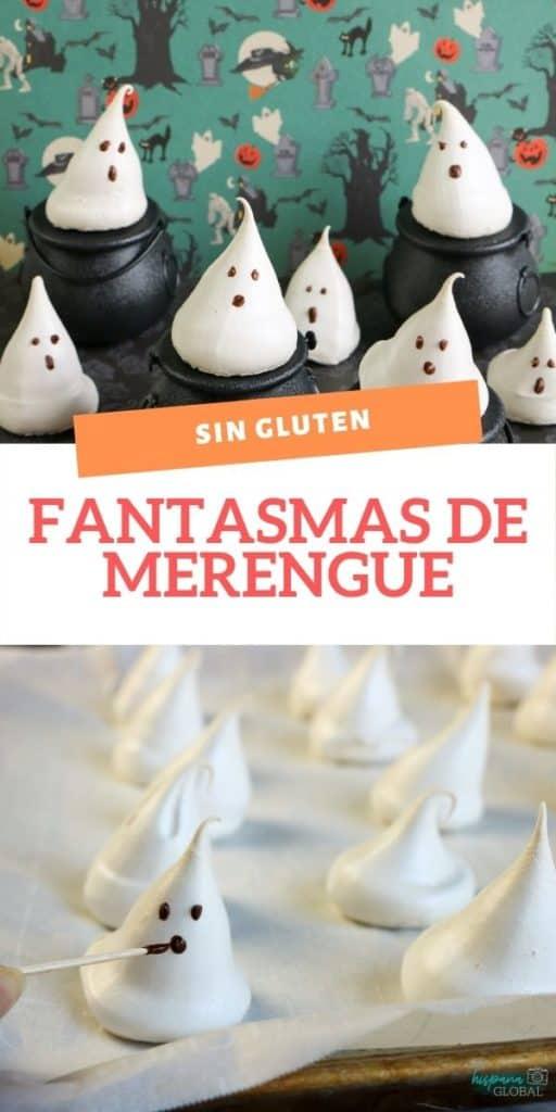 Si estás planeando celebrar Halloween o la Noche de Brujas, estos fantasmas hechos de merengue son deliciosos y no tienen gluten.