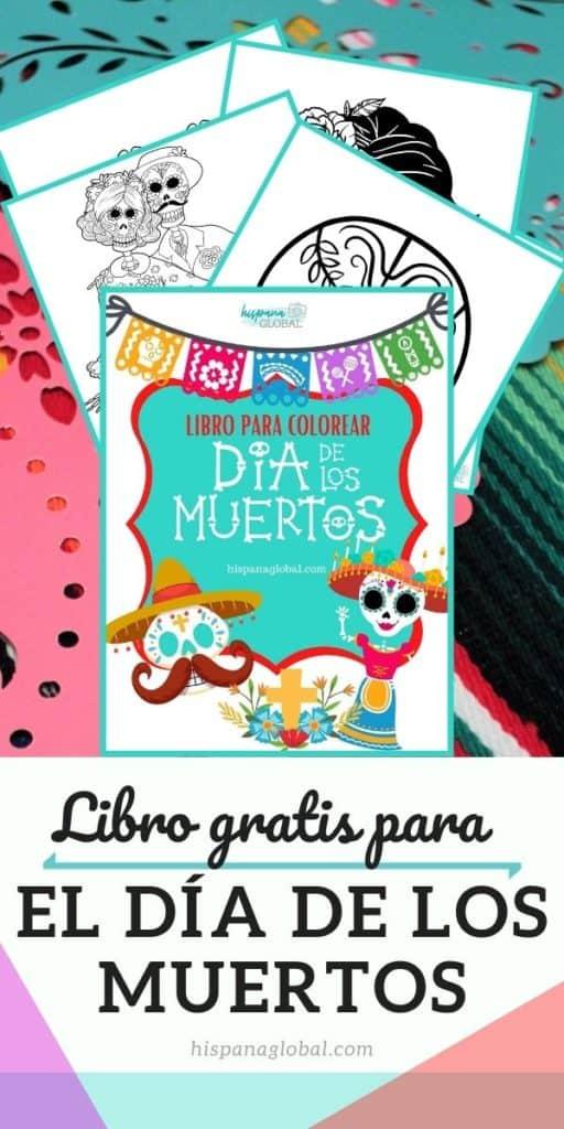Obtén gratis un bello libro para colorear del Día de los Muertos. Los niños se divertirán pintando más de 20 figuras.