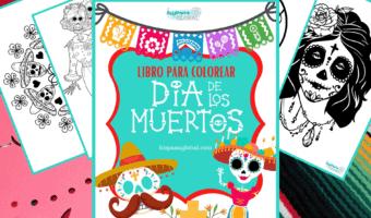 Libro para colorear gratis del Día de los Muertos