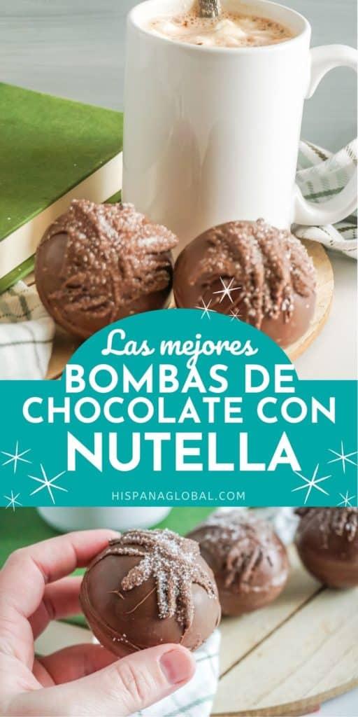 Estas bombas de chocolate caliente con Nutella son simplemente LAS MEJORES. ¡Una delicia que les encanta a grandes y chicos! Mira el video con las instrucciones paso a paso.