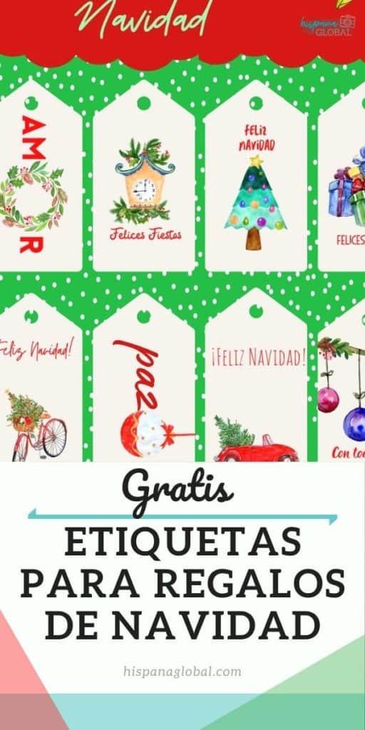 Ahorra en tus regalos de fin de año usando estas etiquetas gratis para regalos de Navidad. También puedes imprimir calcomanías o pegatinas gratis.