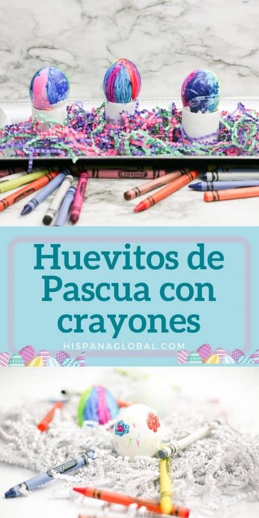 Los niños pueden decorar fácilmente estos hermosos huevos de Pascua con crayones derretidos. El proceso es bastante fácil y es una actividad muy divertida para los niños.