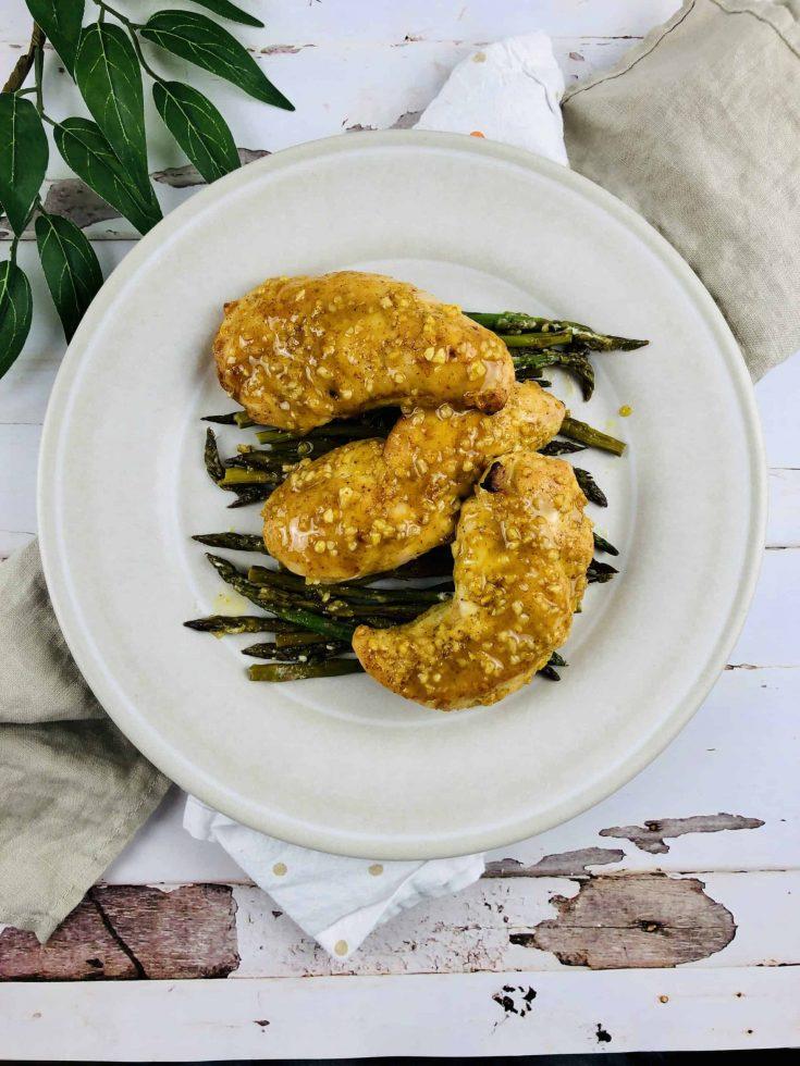 Pollo con salsa de mostaza y miel